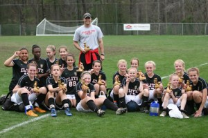 The U12 Girls Elite team, coached by Ryan Austin, are Champions of Red Diamond Vulcan Cup 2009 in U12 Gold 11v11 Division (Birmingham, AL). They went 4-0-0 with one goal against in all 4 games.