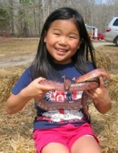 Emily with Snake at a georgia state park