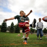 NFL PUNT, PASS & KICK HELD AT RHODES JORDAN PARK